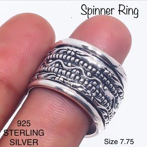 STERLING Ethnic Style Spinner Ring